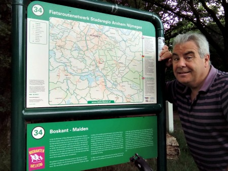 Nijmegen Groesbeek Cycle routes map