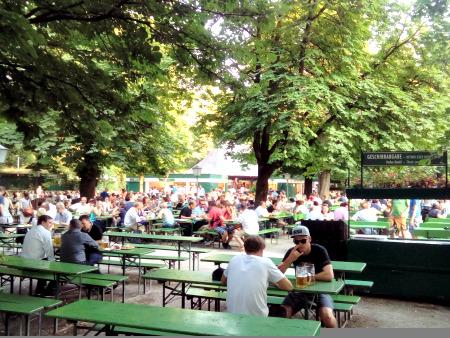 The English Garden - seats over 8,500.