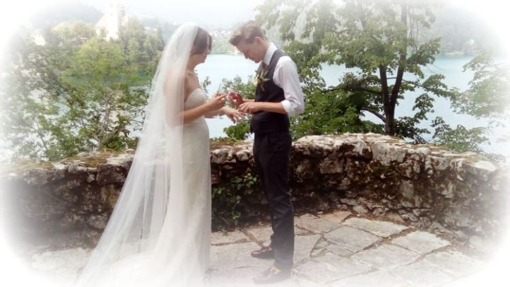 Sam and Tabitha Wedding Lake Bled