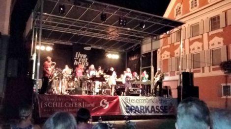 Twenty piece brass band in Deutschlandsberg.