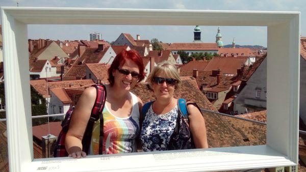Eva and Jo in Graz