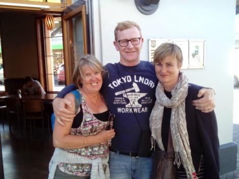 David and his girl,s Jo and Carolyn.