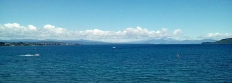 Lake Taupo in the sunshine