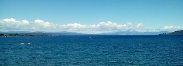 Lake Taupo in the sunshine