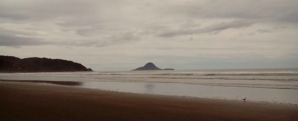 Unpredictable weather on Ohope Beach
