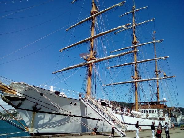 Amazing Ecuadorian sailing ship in Wellington harbour.
