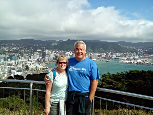 Top of Mount Victoria overlooking Wellington.