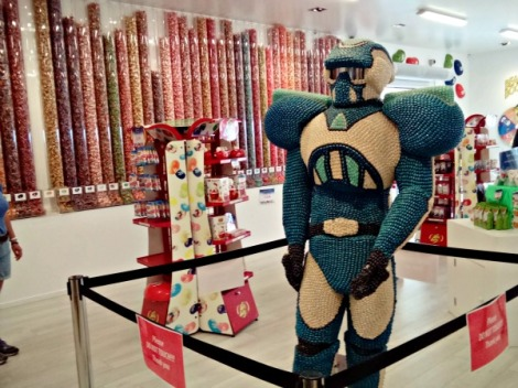 Jelly Bean robot in the Jelly Bean shop