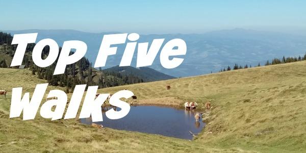 JWalking Top Five Walks