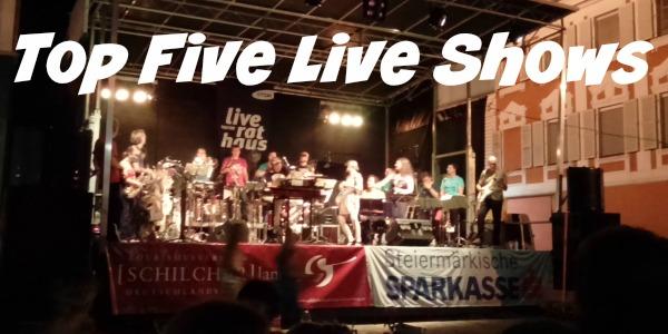 JWalking Top Five Live shows