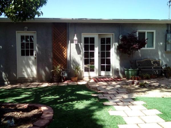 Our Airbnb garden in San Diego