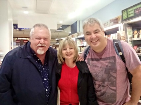 Jim and Jane at Gatwick on the way to Prague.