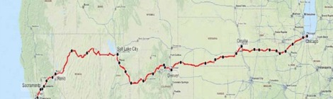 California Zephyr Route