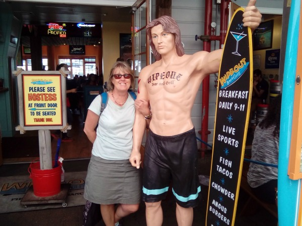 Jo and her new 'friend' Chad the Surfer
