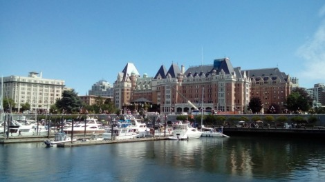The famous Empress Hotel in Victoria Harbour