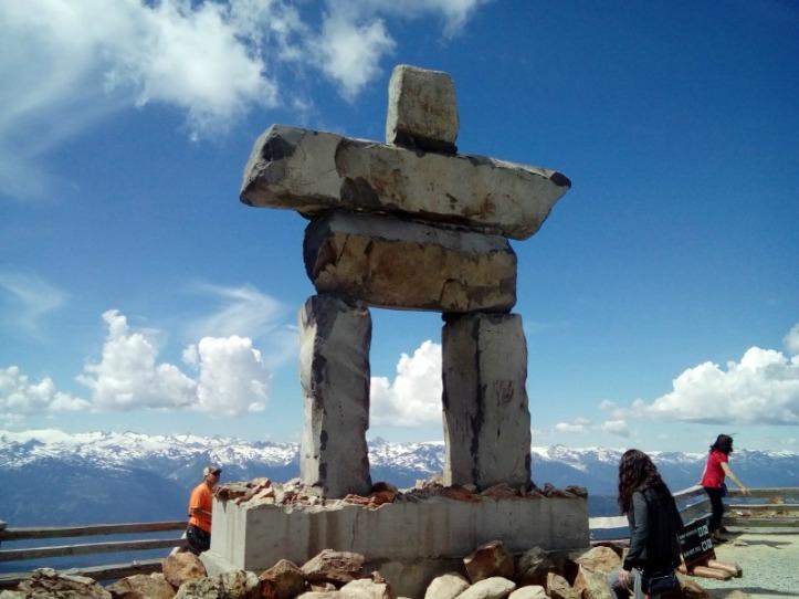 The Innukshuk on the peak of Whistler Mountain