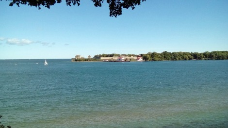 Fort Niagara, USA from Canadian side of Niagara River