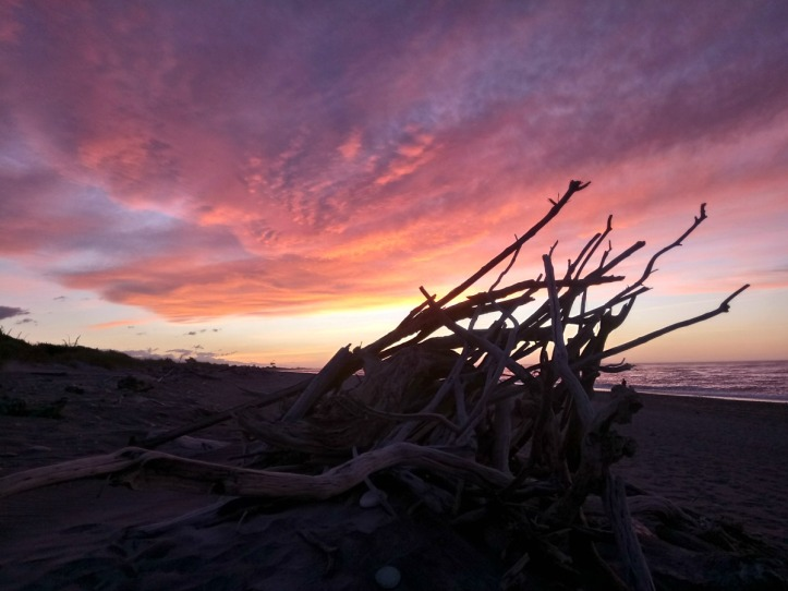 Sunset at Hokitika Beach