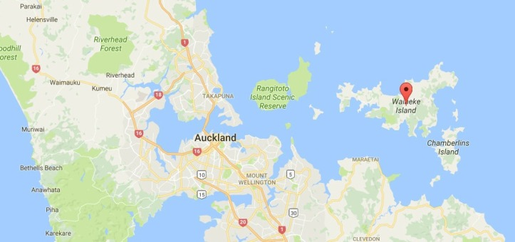 Map Waiheke Island