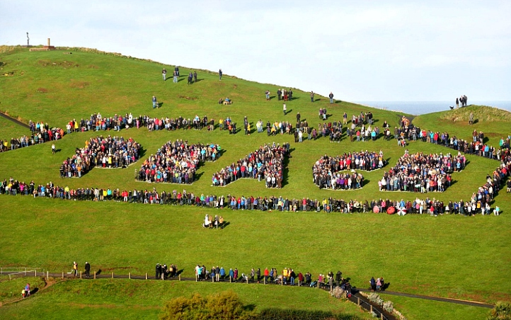 Ilfracombe Living Letters Peace 2018