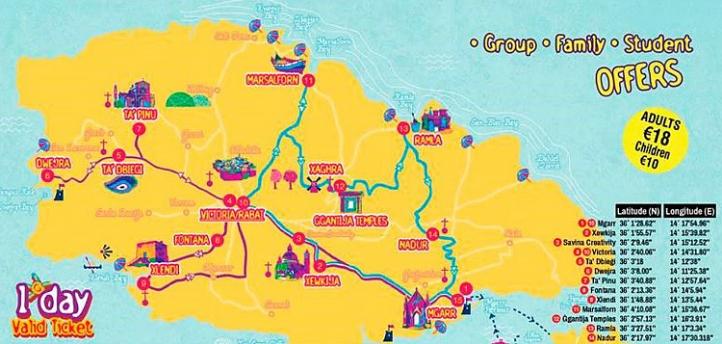 Gozo Bus Map
