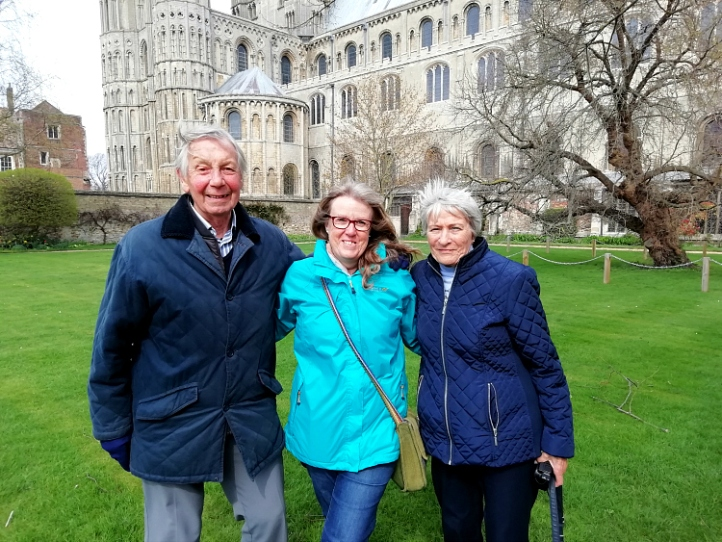 Ely with Joy and John