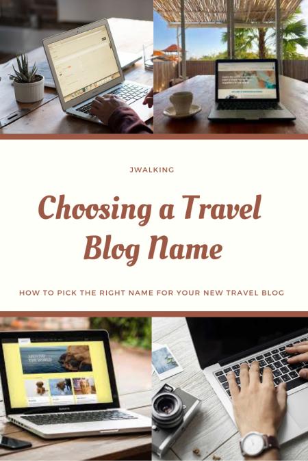 pinterest Choosing a Travel Blog Name