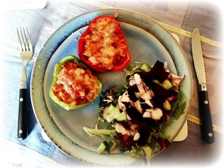 Peppers and Salad