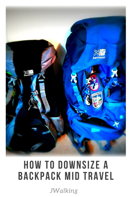 How to Downsize a backpack mid travel
